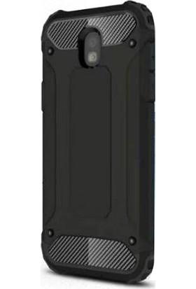 Smcase Samsung Galaxy J7 Pro Kılıf Crash Zırh Koruma + Nano Siyah