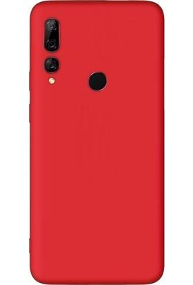 Smcase Huawei Y9 Prime 2019 Kılıf Premier Silikon Esnek Arka Koruma Kırmızı