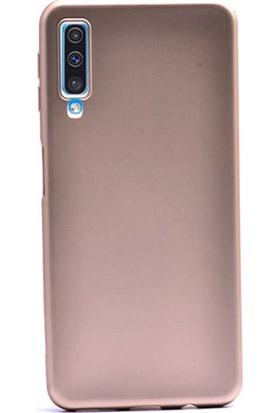 Smcase Samsung Galaxy A50s Kılıf Premier Silikon Esnek Arka Koruma Gold