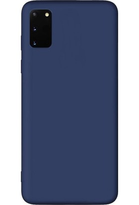 Smcase Samsung Galaxy S20 Kılıf Premier Silikon Esnek Koruma Lacivert