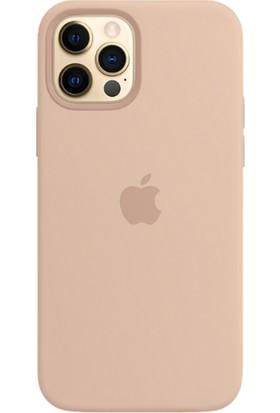 Rosstech Apple iPhone 12-12 Pro için Lansman Silikon Kılıf Kum Pembe
