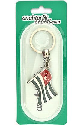 Anahtarlık Sepeti Abhaz Dalgalı Bayrak Anahtarlık