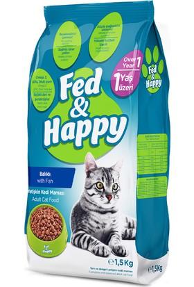 Fed & Happy Balıklı Yetişkin Kedi Maması 1,5 kg