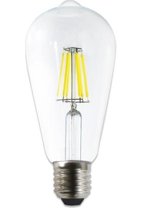 Avizevi 6WATT Erd 209 Beyaz Işık Rustik Ampül