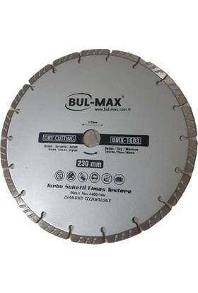 Bulmax 230 mm Turbo Soketli Granit Beton Mermer Seramik Elmas Testere