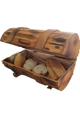 Beşkardeşler Ahşap Ekmek Kutusu Doğal