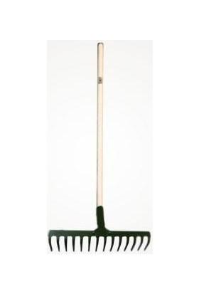 Dirim Takviyeli Tırmık 16 Dişli Bahçe Tırmıgı ve 140 cm Gürgen Sap