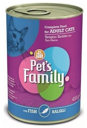 Pets Family Balıklı Konserve Kedi Maması 24X410GR
