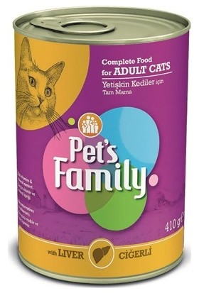 Pets Family Ciğerli Konserve Kedi Maması 24X410GR