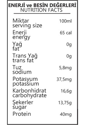 Benorganic Üzüm Suyu 6 x 1 Lt