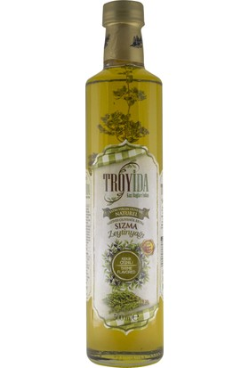 Troyida Naturel Kekik Çeşnili Sızma Zeytinyağı Cam Şişe 500 ml
