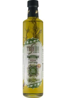 Troyida Naturel Biberiye Çeşnili Sızma Zeytinyağı Cam Şişe 500 ml