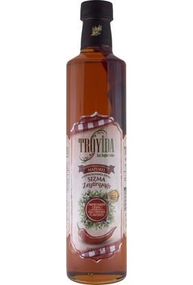 Troyida Naturel Paprika Çeşnili Sızma Zeytinyağı Cam Şişe 500 ml