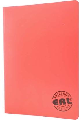 Erl 801 A5 80 Yaprak Spiralli Plastik Kapak Çizgili Defter