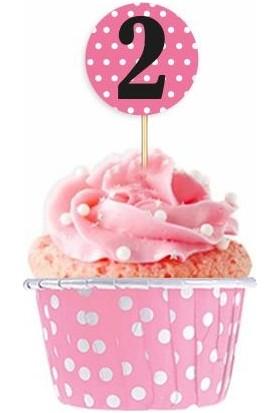 Kullanatparty Puantiyeli Muffin Cupcake Kek Kapsülü Açık Pembe PUANTIYELI-100 Adet