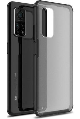 Magazabu Xiaomi MI10T Pro Kılıf Volk Darbe Korumalı Mat Tpu Silikon + Tam Kapatan Nano Ekran Koruyucu Siyah