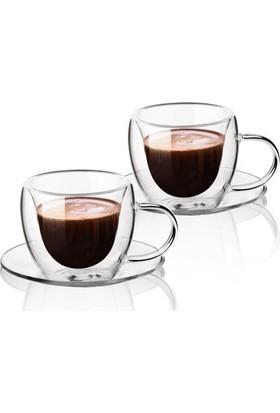 Baysa 2 Adet Cidarlı Kahve Espresso Fincanı