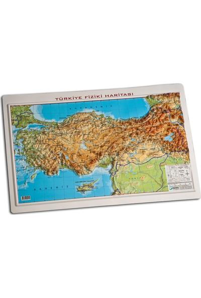 Gürbüz Yayınları Kabartma Türkiye Fiziki 35 x 50 cm
