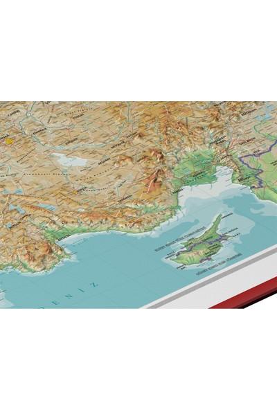 Gürbüz Yayınları Kabartma Türkiye Fiziki 70 x 100 cm