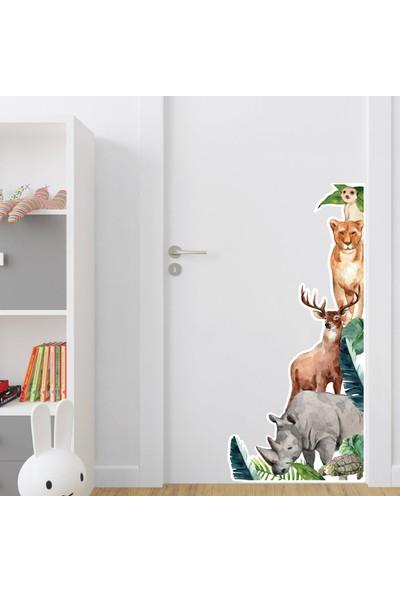Dijitalya Tropikal Hayvanlar Sticker | Çocuk Odası Sticker |