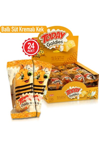 Elvan Today Goldies Ballı-Sütlü 35 gr 24 'lü (1 Kutu)