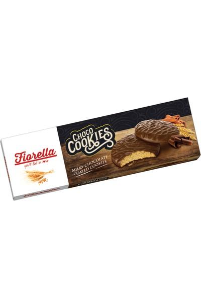 Fiorella Choco Cookies Çikolata Kaplamalı Karamelli Bisküvi 106 gr 6 'lü (1 Kutu)