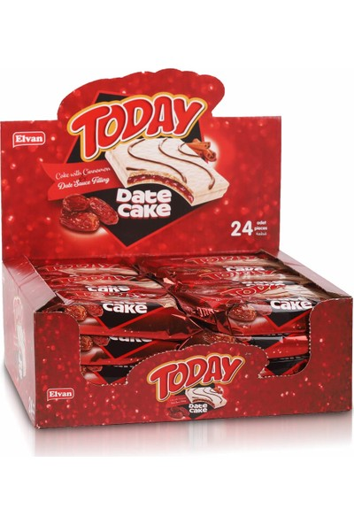 Elvan Today Hurmalı Tarçınlı Date Cake 40GR. 24 'lü (1 Kutu)