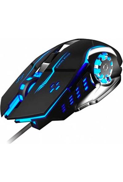 Platoon PL-1605 Gaming 1200DPI Işıklı USB Oyuncu Mouse