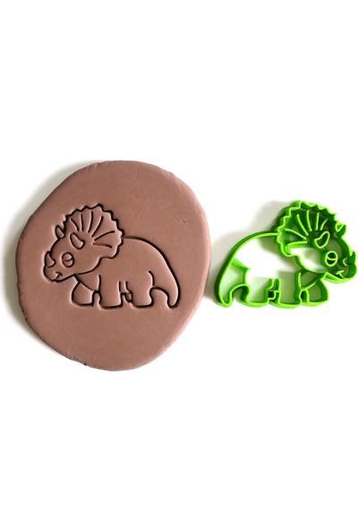 Cestopieno Triceratops Dinazor Kurabiye Kalıbı / Oyun Hamuru Kalıbı