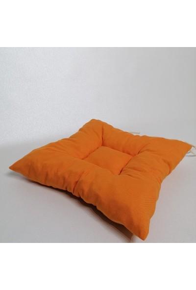 Apaydın Düz Renk Pofidik Sandalye Minderi Turuncu Renk
