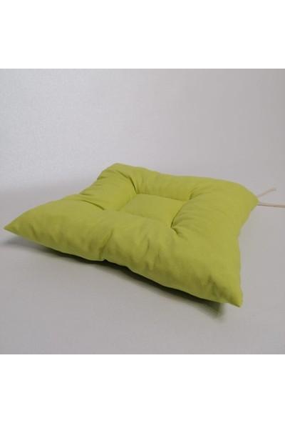 Apaydın Düz Renk Pofidik Sandalye Minderi Fıstık Yeşil Renk