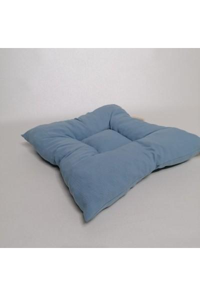 Apaydın Düz Renk Pofidik Sandalye Minderi Bebe Mavi Renk