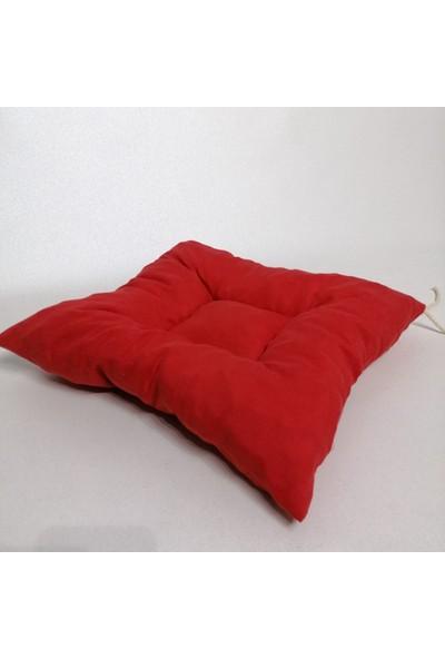 Apaydın Düz Renk Pofidik Sandalye Minderi Kırmızı Renk