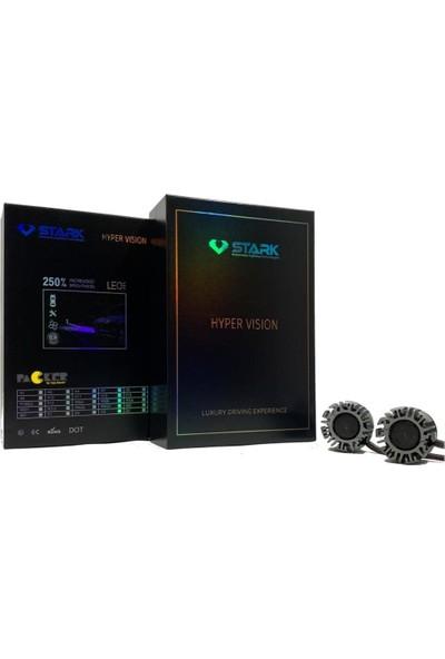Stark Hyper Vision H11 Csp 9000LM LED Xenon Beyaz Mini Far Ampulü Yüksek Odaklama, Beyaz Renk