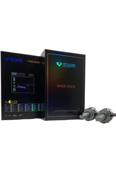 Stark Hyper Vision H7 Csp 9000LM LED Xenon Beyaz Mini Far Ampulü Yüksek Odaklama, Beyaz Renk