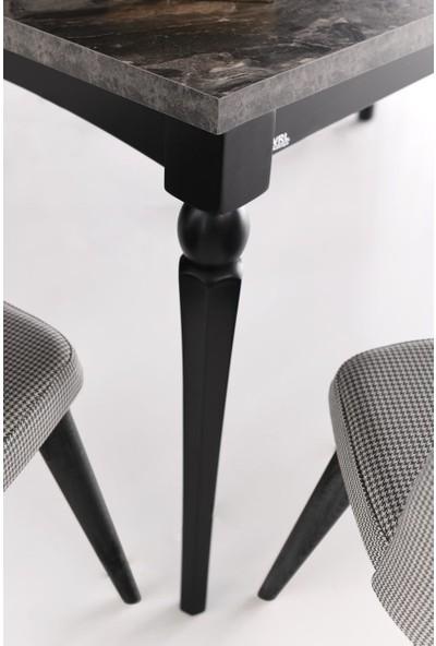 VRL Petra Mutfak Cafe Masası Vice Ahşap Sandalye Takımı