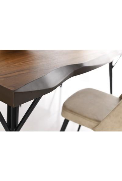 VRL Timberland 180 Mutfak Cafe Masası Tuna Sandalye Takımı