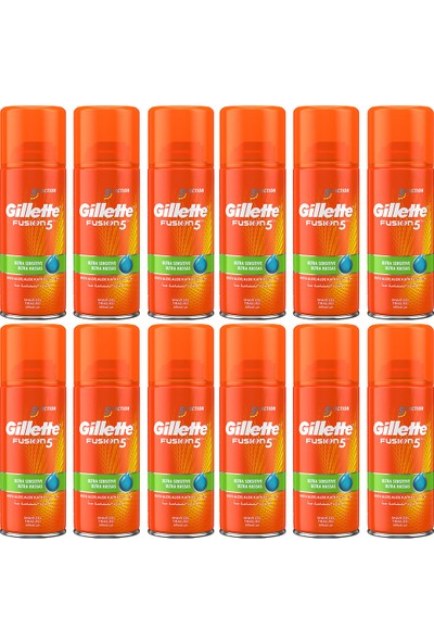 Gillette Fusion Ultra Hassas Tıraş Jeli 75 ml x 12 Adet