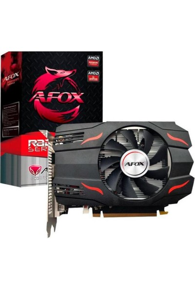 AFOX RX550 4GB 128bit HDMI DVI DP PCIe 16X v3.0 GDDR5 Anakart AFRX550-4096D5H3