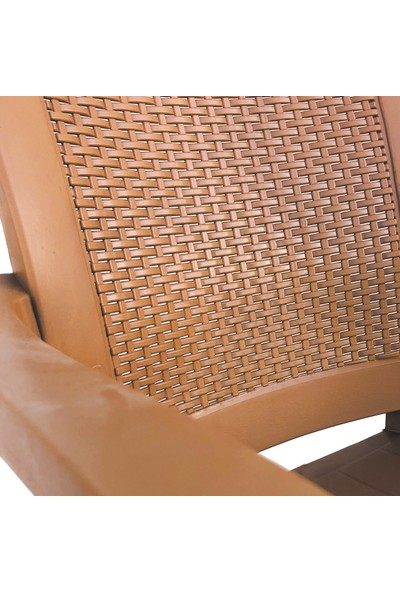 Romanoset Plastik Premium Teak Sandalye 4 Lü Set