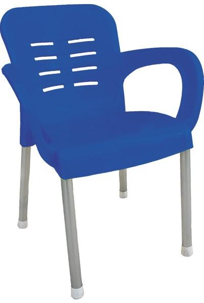 Romanoset Plastik Romanoset Neptün Demir Ayaklı Plastik Sandalye 4 Lü Set