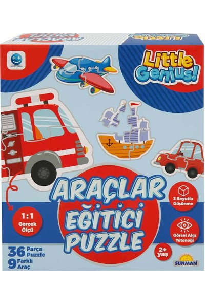 Smile Games Araçlar Eğitici Puzzle 36 Parça