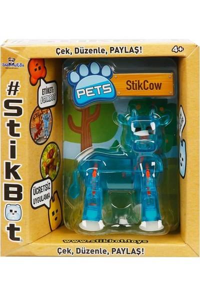Stikbot Pets Tekli Paket - Stikcow - Mavi
