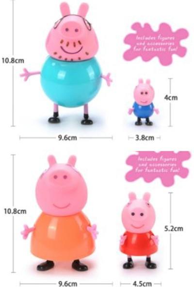 Peppa 4'lü Pig Aile Figürleri