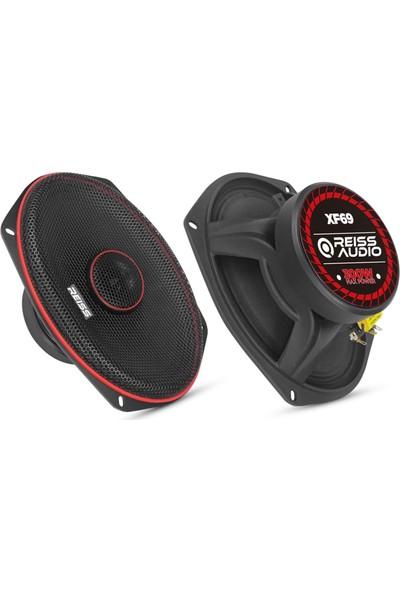 Reiss Audio RS-XF69 300 Watt Max POWER+125 Watt Rms Power+6x9 Oval Midrange - Adet