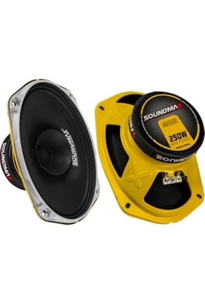 Soundmax SX-M69XH 250 Watt Max Power Oval Midrange