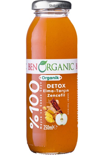 Benorganic Detox Elma Tarçın Zencefil Suyu 12'li x 250 ml