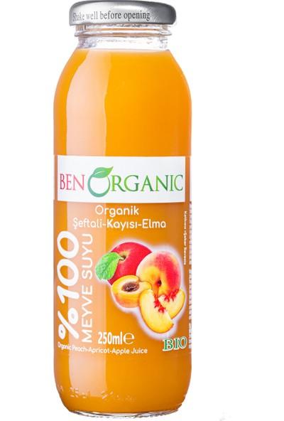 Benorganic Şeftali-Kayısı-Elma Suyu 12'li x 250 ml