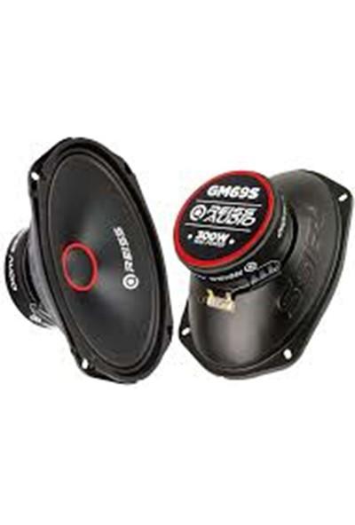 Reiss Audio RS-GM69S 300 Watt Max POWER+100 Watt Rms Power+6x9 Oval Midrange