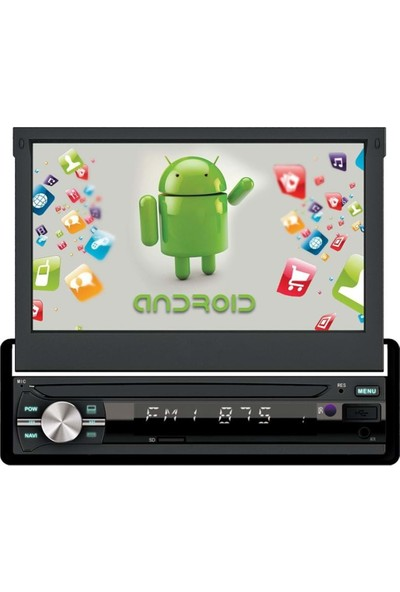 """Newfron NF-AN7500 2gb Ddr+Android 8.1+7"""" Android Oto Indash Teyp"""